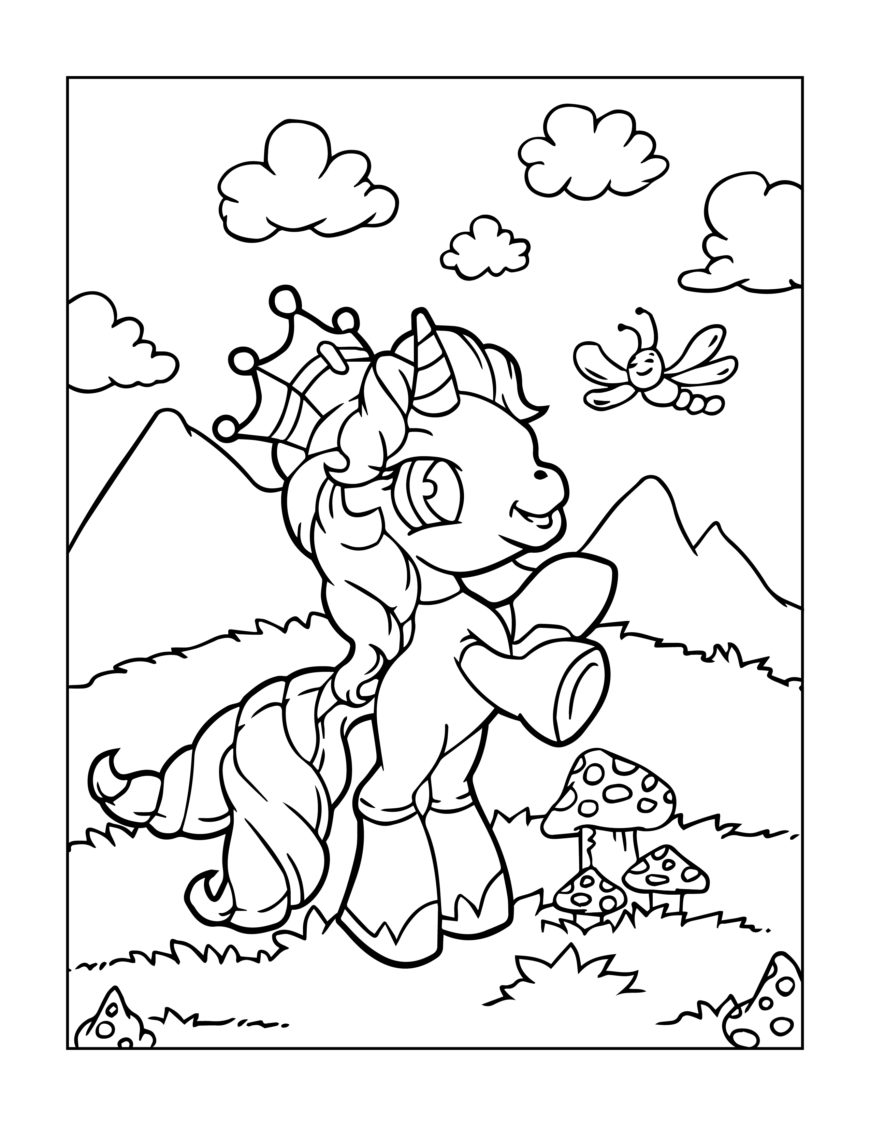 Coloring Pages - Unicorns 2