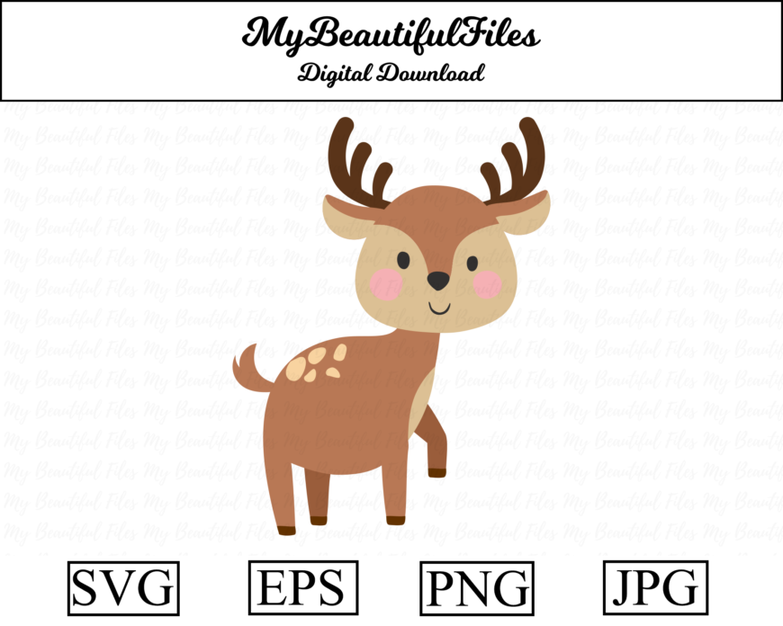 Deer Illustration Vector Graphic