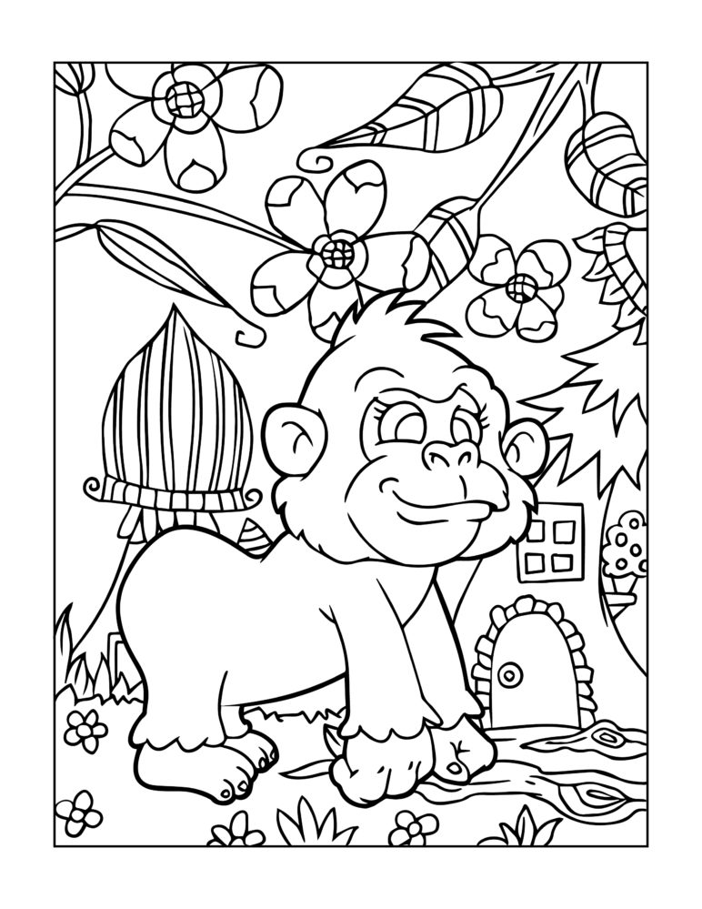 - Zoo Animal Coloring Page 7 -